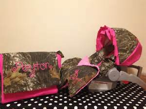 Camouflage baby bedding piece set mossy oak camo fabric infant car