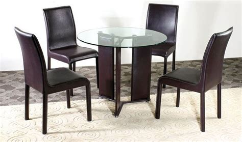 fashionable glass top dining room furniture dinette