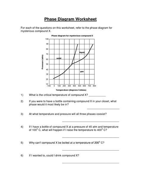 phase diagrams worksheet 15 best images of phase change diagram worksheet answers