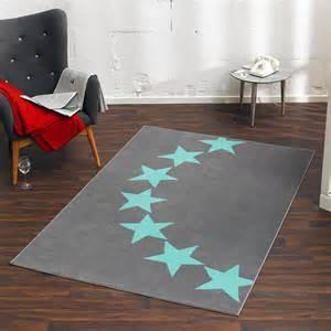 teppich grau 140x200 design velours teppich sterne grau blau 140x200 cm