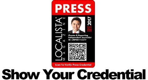 press pass request template press