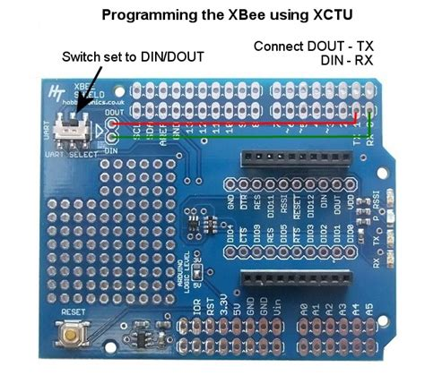 Xbee Shield With Logic Level Converter 1 arduino xbee shield ht xbee shield hobbytronics