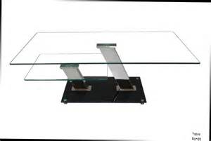 table salon verre but table basse design verre noir blanc