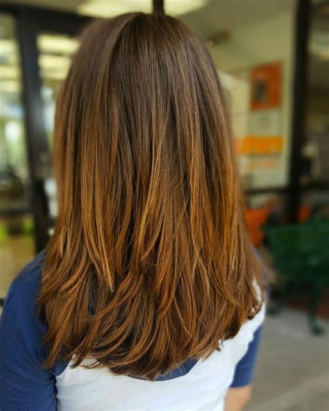 how to cut long layers in blunt hair style best 25 medium hairstyles ideas on pinterest