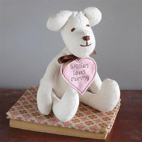 Handmade Teddy - personalised handmade teddy for by milly and pip