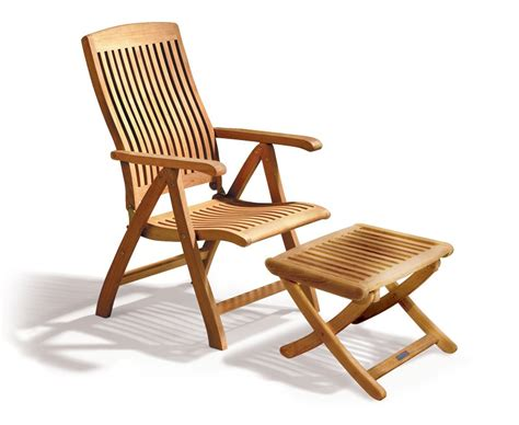 reclining outdoor chair with footrest bali garden reclining chair with footrest teak