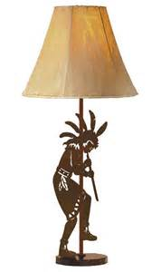 Metal Table Lamp Flute Player Tall Metal Table Lamp Southwestern Style