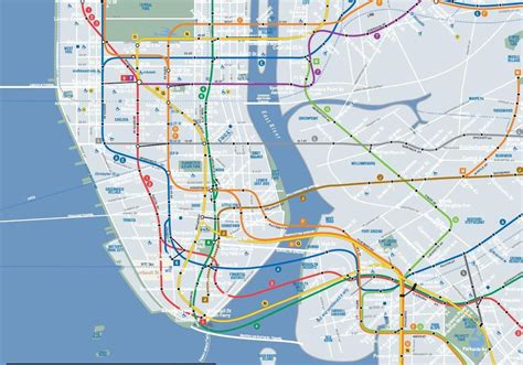 subway map of manhattan with streets map of new york city printable 11 jamestown with
