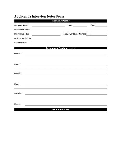 office note template notes form template for applicant reports form templates