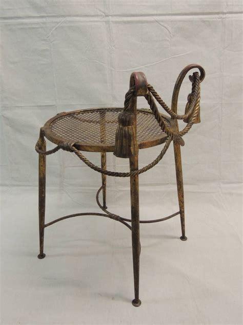 1940 s gilt metal rope and tassel vanity stool at 1stdibs