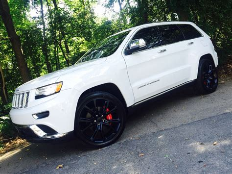 jeep grand cherokee 2017 white with black rims 2015 jeep grand cherokee summit 22 quot matte black rims