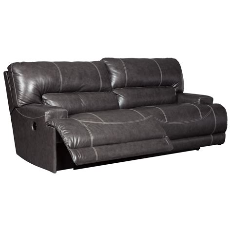 signature design by ashley barrettsville 2 seat reclining sofa signature design by ashley mccaskill contemporary leather
