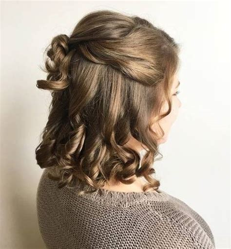 curls half up half down hairstyles medium length hair 50 half up half down hairstyles for everyday and party looks