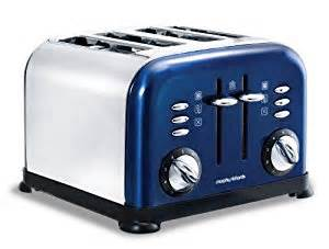 Navy Blue Toaster Morphy Richards Accents 44730 4 Slice Toaster Blue