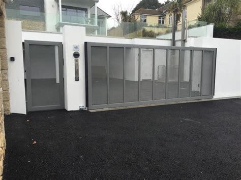 stainless steel garage stainless steel sliding automated gate in st ives south