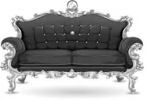 kautsch sofa vector graphic sofa loveseat black