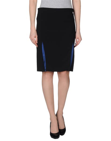 liu jo knee length skirt in black lyst