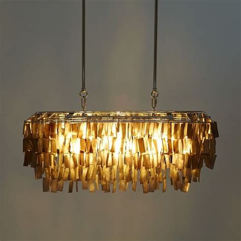 Rectangular Capiz Shell Chandelier Large Rectangle Hanging Capiz Chandelier Gray West Elm