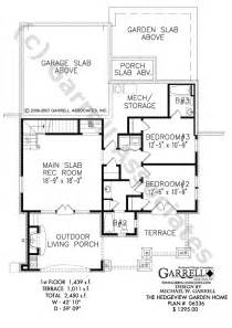 Garden Home House Plans by Hedgeview Garden Home House Plan Covered Porch Plans