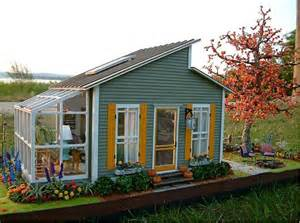 Cute Little House Cute Little House Shed With Greenhouse Perfect Amount Of