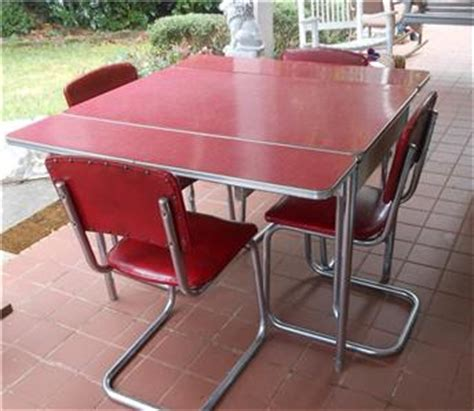 vintage retro chrome 1950 s kitchen formica pull out table