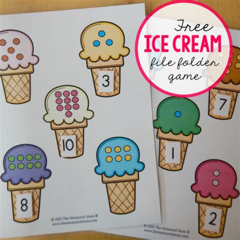 file folder games for teaching shapes free file folder game for preschoolers ice cream count