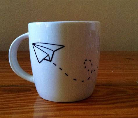 cute cup designs paper airplane sharpie mug idea crafts and such