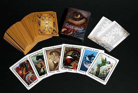 custom card decks pathfinders animal totem card oracle deck the foxloft