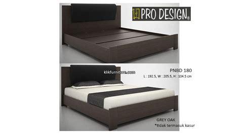 Ranjang Kayu Ukuran 180 200 pnbd 180 ranjang kayu pro design promo sale