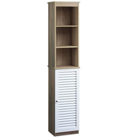 Bathroom Storage Cabinets With Doors Bathroom Cabinet With 6 Shelves And Door Cupboard Bath Storage Room Ebay