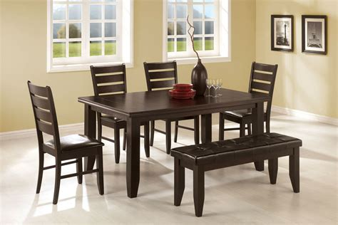 dining room table sets with bench dining table bench set dining table