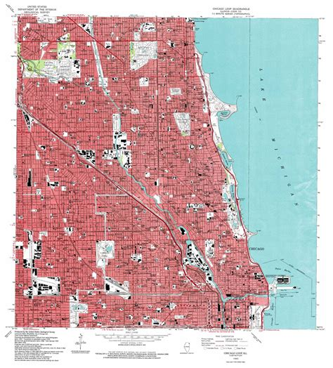chicago loop map chicago loop topographic map il usgs topo 41087h6