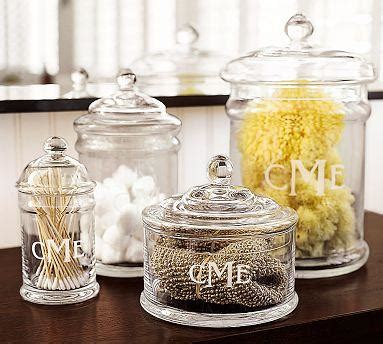 glass canisters for bathroom clear classic glass canister