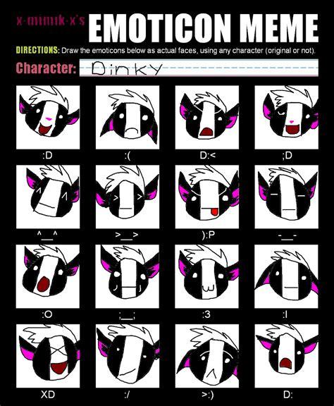 Emoticon Meme - emoticon meme by skunkyrainbow270 on deviantart