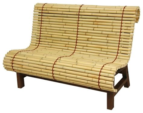 asian garden bench curved japanese bamboo bench traditional accent storage benches by oriental