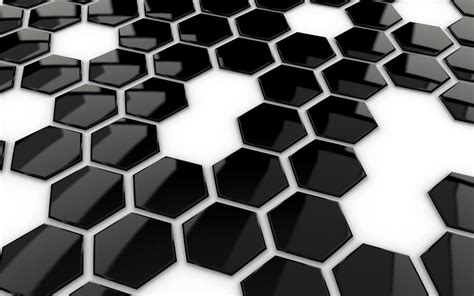 themes black white wallpapers 3d honeycomb wallpapers