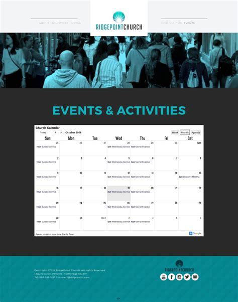 Event Calendar Website Template by A Top Church Website Template Elevation Church Theme