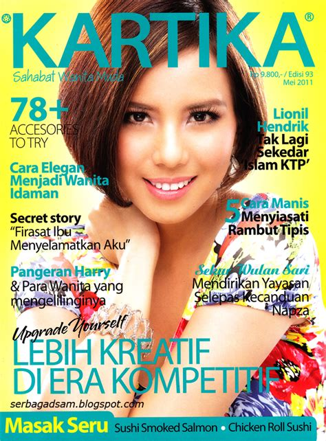 Majlah Popular Mei 2001 Cover Denada all about gadis sul tya ariestya kartika mei 2011 cover