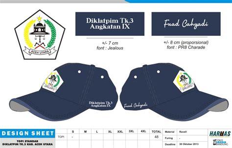 Topi Pokdar Kamtibmas Dan Bordir Nama pesan jas jaket konveksi seragam kantor pakaian kerja