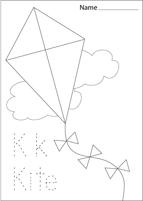 kite coloring pages preschool kite pattern page coloring pages