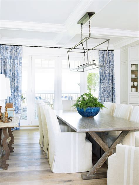 coastal living dining room x based dining table
