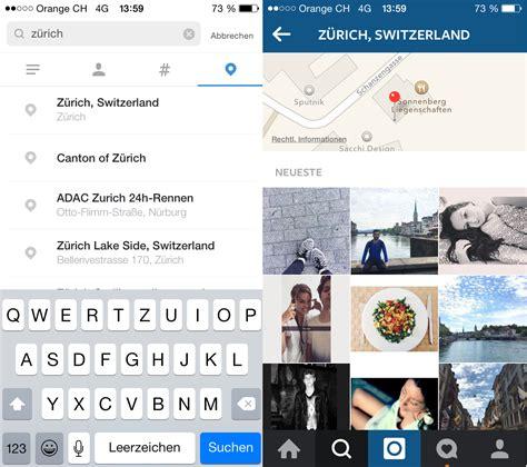 instagram locations instagram neue suche und explore funktion xeit