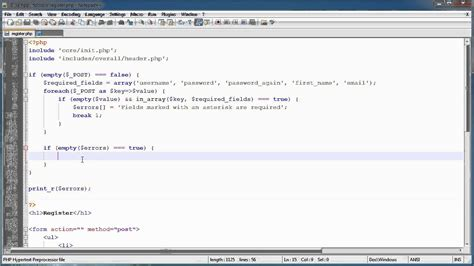 tutorial php login registration php tutorials register login part 10 registration