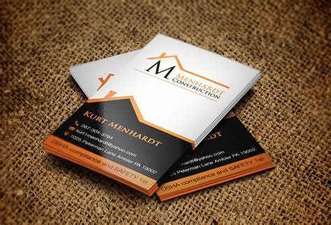 home design outdoor living credit card 60 professional construction business card designs for a