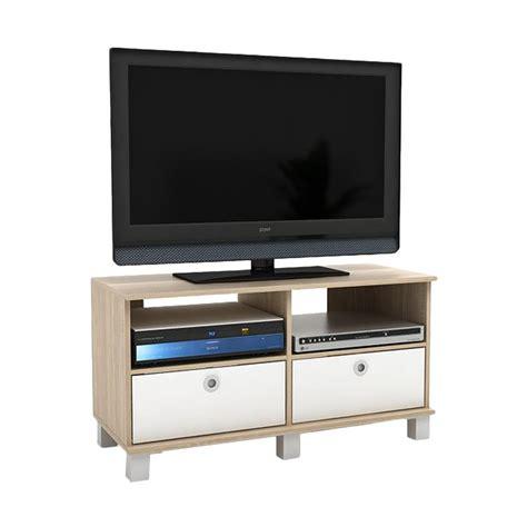 Rak Tv Entertainment Centre jual funika 11156 1 oak wh rak tv dengan 2 rak pintu lipat