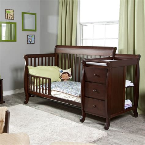 Black Crib And Changing Table Convertible Crib And Changing Table