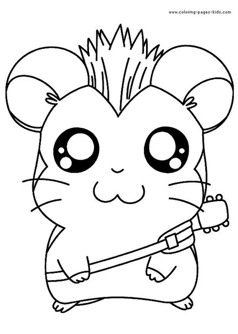 coloring pages for kids animals cute characters color