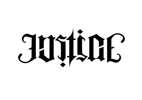 justice ambigram by yumandanu on deviantart