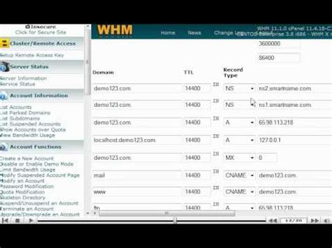 tutorial web host manager managing dns zones in whm 11 web host manager whm