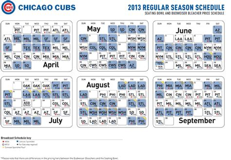 cubs schedule cubscom schedule invitations ideas